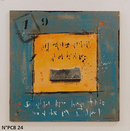 Petit format bois 30x30cm N° PCB24