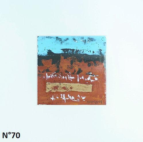 Petit format bristol 20x20cm. N°70