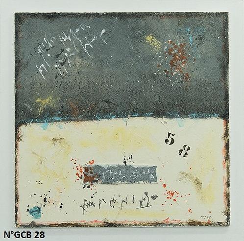 Petit format bois 40x40cm N° GCB28