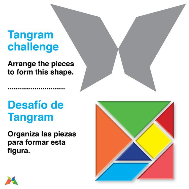 Tangram butterly
