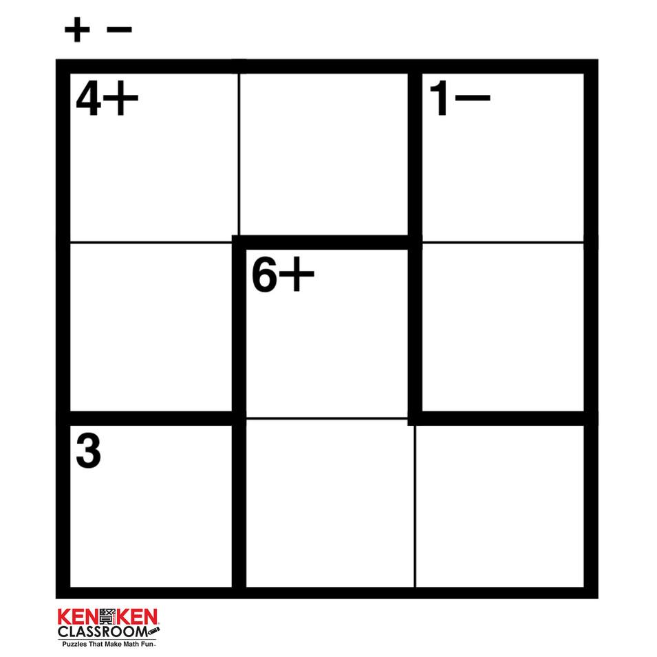 KenKen 3x3