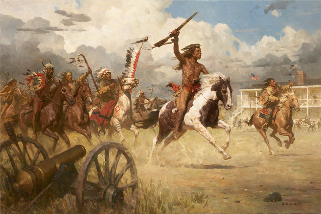THE CHARGE OF CRAZY HORSE