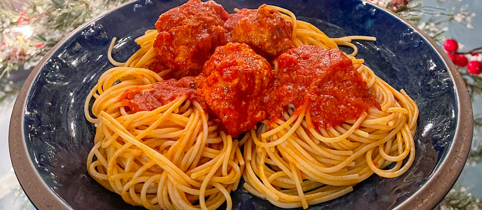 """""""And they call it 'bella notte'!"""" Lady and the Tramp inspired dinner!"""