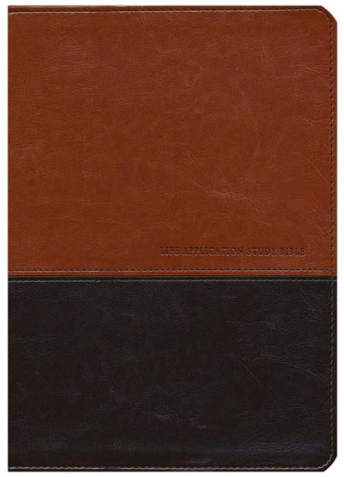 Life Application Study Bible KJV large print brown & tan indexed