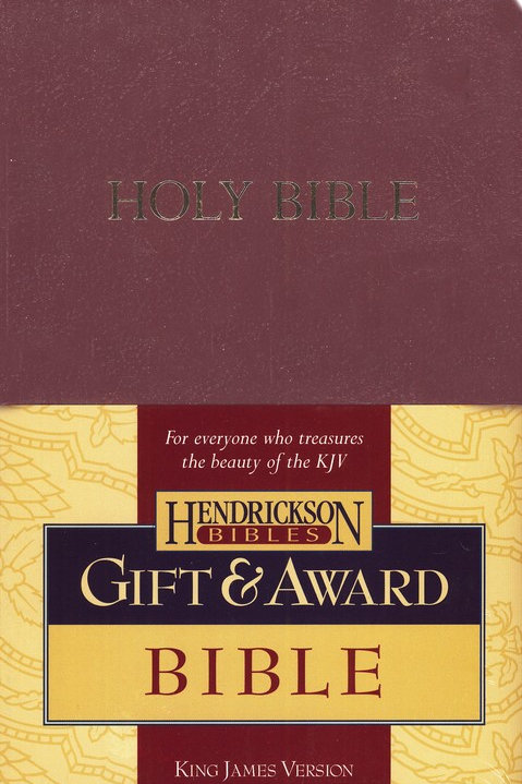 KJV Gift & Award Bible, Imitation leather, Burgundy