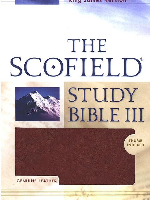 KJV Scofield Study Bible Genuine Leather, Burgundy with Thumb-Index
