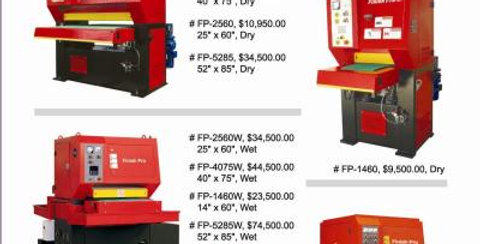 Finish Pro Deburring Wide Belt Wet Machines ISO 9001