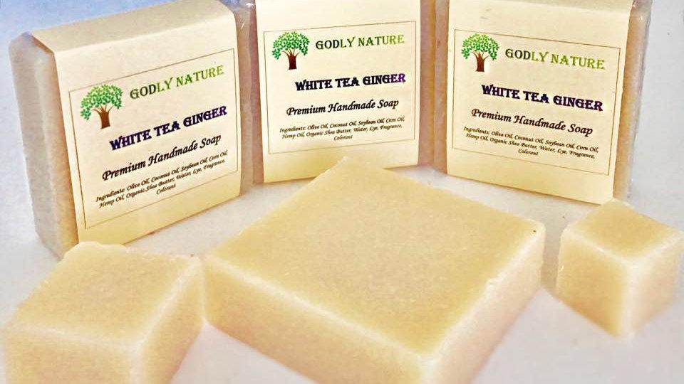 White Tea Ginger Premium Handmade Soap