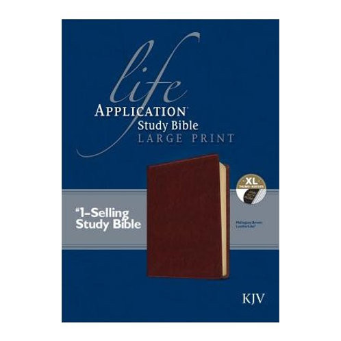 KJV Life Application Study Bible, Large Print Brown Indexed Leatherlike