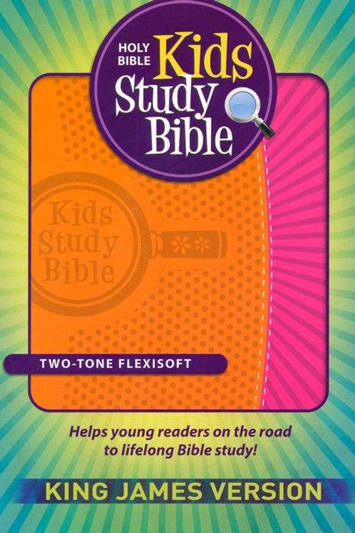KJV Kids Study Bible, imitation leather orange/pink