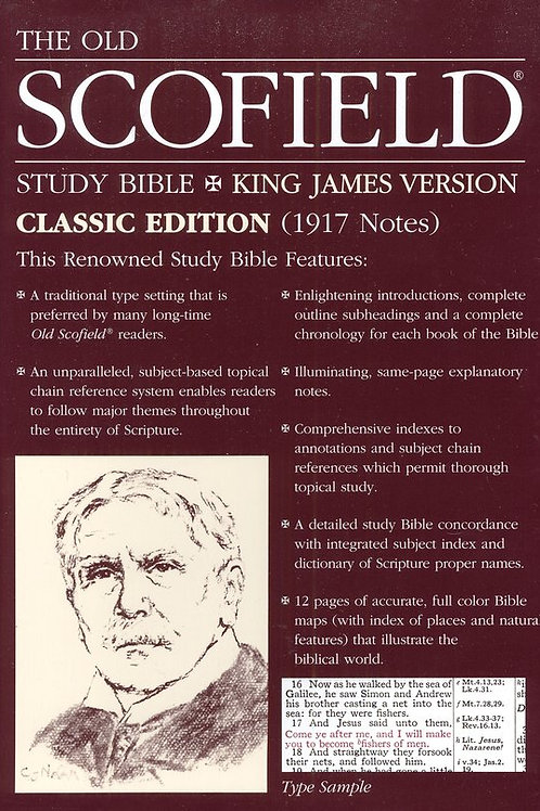 Old Scofield Study Bible Classic Edition, KJV, Bonded Leather Blue Thumb-Indexed