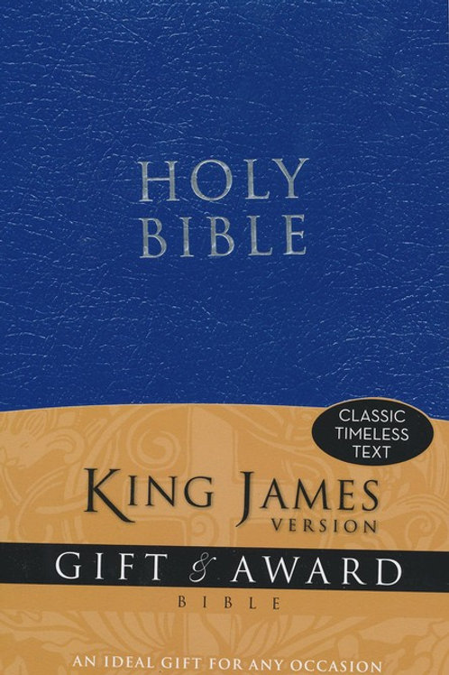 King James Version Gift & Award Bible, Blue