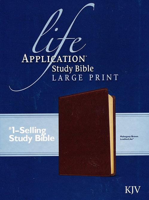 KJV Life Application Study Bible, Large Print Brown Leatherlike