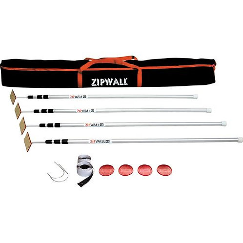 Containment #1(a) USiM Zipwall ZipPole 10' 4-Pack Spring-Loaded Poles