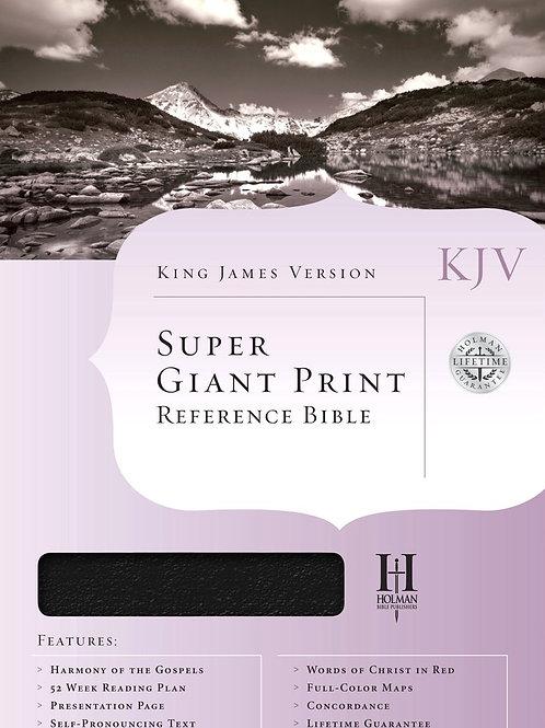 KJV Super Giant Print Reference Bible, Bonded leather, Black Thumb-Indexed