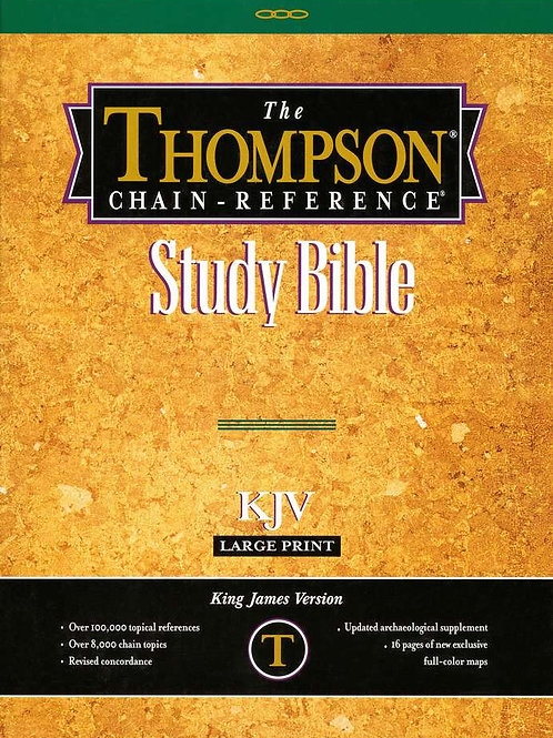 KJV Thompson Chain-Reference Bible, Large Print, Burgundy Genuine Leather, Capri