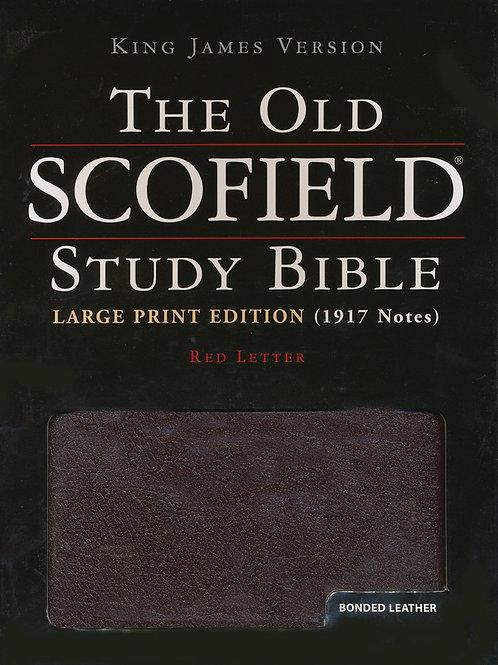 KJV Old Scofield ® Study Bible, Large Print, Bonded leather, Burgundy