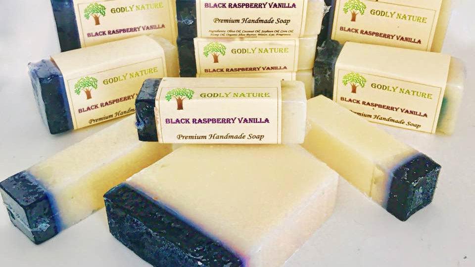 Black Raspberry Vanilla Premium Handmade Soap