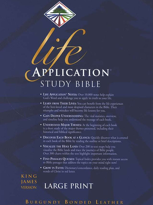 KJV Life Application Study Bible, Large Print, Bonded Leather, Burgundy, Thumb I