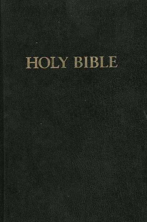 KJV Large-Print Pew bible, black - Case of 24