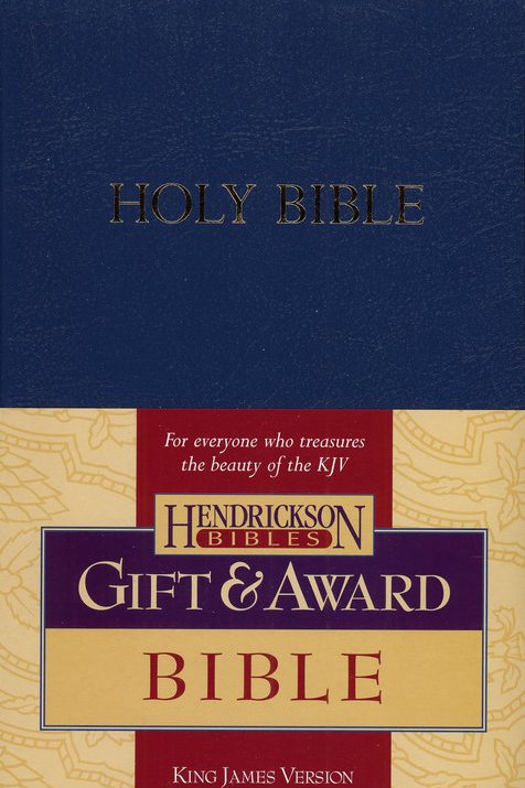 KJV Gift & Award Bible, Imitation leather, Blue , Case of 24