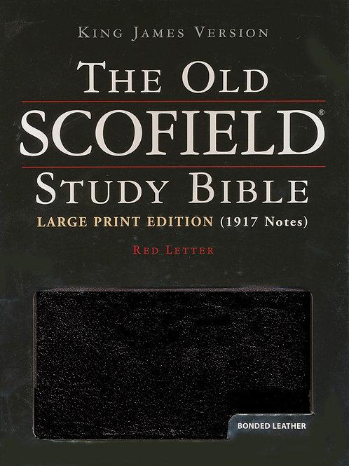 KJV Old Scofield ® Study Bible, Large Print, Bonded leather, Black