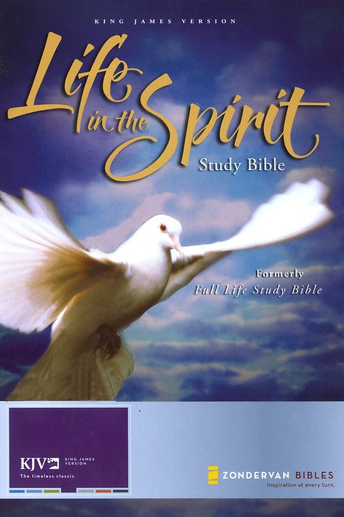 KJV Life in the Spirit Study Bible, Bonded Leather, Black (Previously titled The
