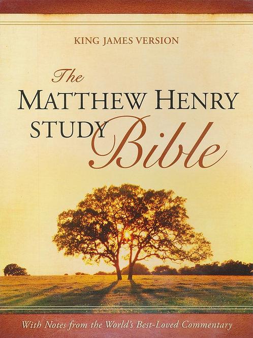 KJV Matthew Henry Bible, Flexisoft brown/mahogany