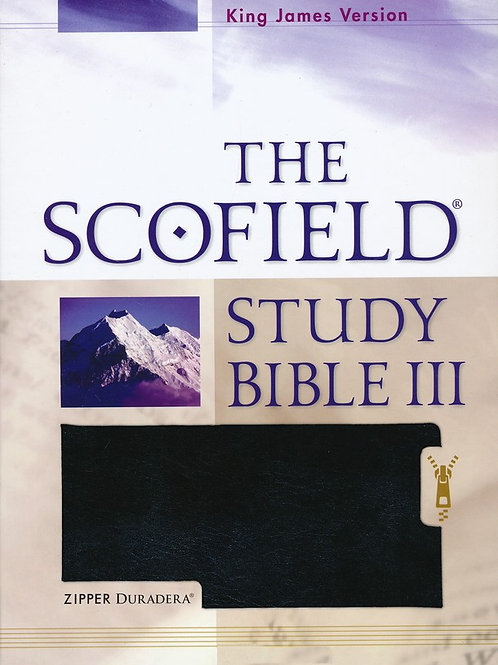 The Scofield Study Bible III, KJV, Black Duradera (Imitation Leather) with Zippe