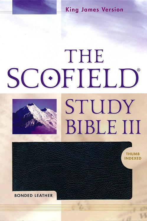 KJV Scofield Study Bible III, Black Bonded Leather, Thumb-Indexed