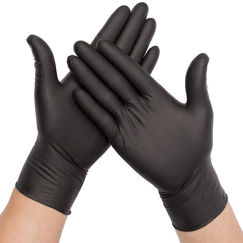 PPE #3(a) 100PCS Disposable Nitrile Vinyl Gloves, Latex Free, Powder Free