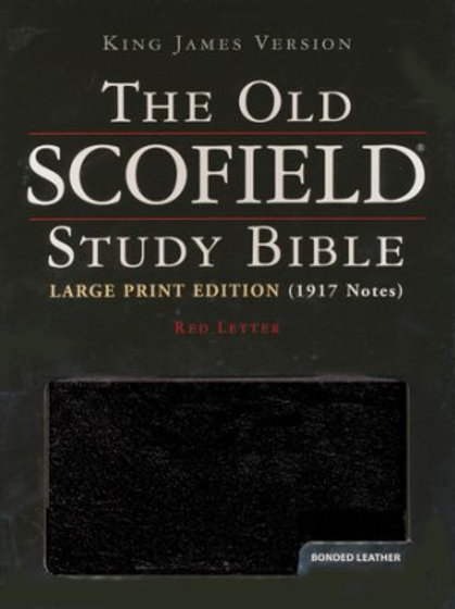 KJV Old Scofield Study Bible, Large Print, Bonded leather, Black, Thumb-Indexed
