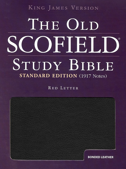 KJV Old Scofield Study Bible, Standard Edition, Bonded leather, Black, Thumb-Ind