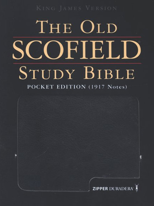 KJV Old Scofield Pocket Edition Duradera Zipper Black