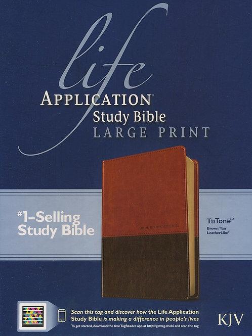 Life Application Study Bible KJV large print brown & tan