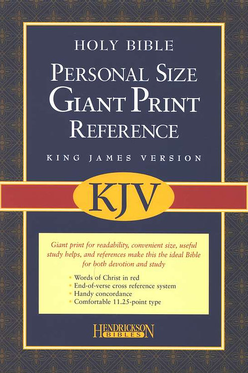 KJV Personal Size Giant Print Reference Bible, bonded leather, black