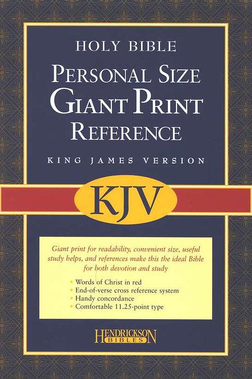 KJV Personal-Size Giant-Print Reference Bible--imitation leather, burgundy
