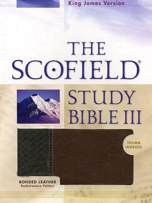 KJV, The Scofield Study Bible III, Basketweave BN/TN, Bonded Leather, Thumb-Inde