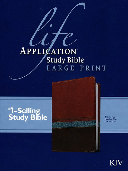 KJV Life Application Study Bible Large Print Imitation Leather, brown/tan/heathe
