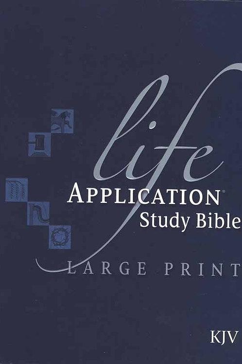 KJV Life Application Study Bible, Large Print, Hardcover