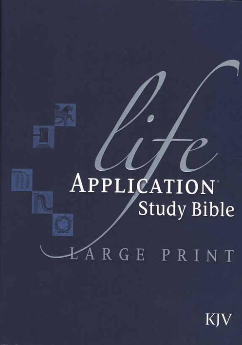 KJV Life Application Study Bible, Large Print, Hardcover, Thumb-Indexed