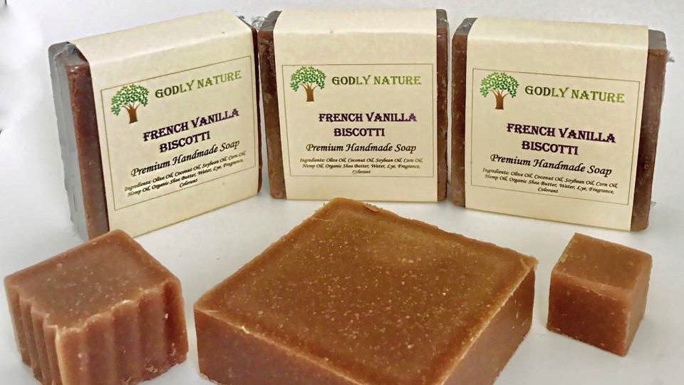 French Vanilla Biscotti Premium Handmade Soap