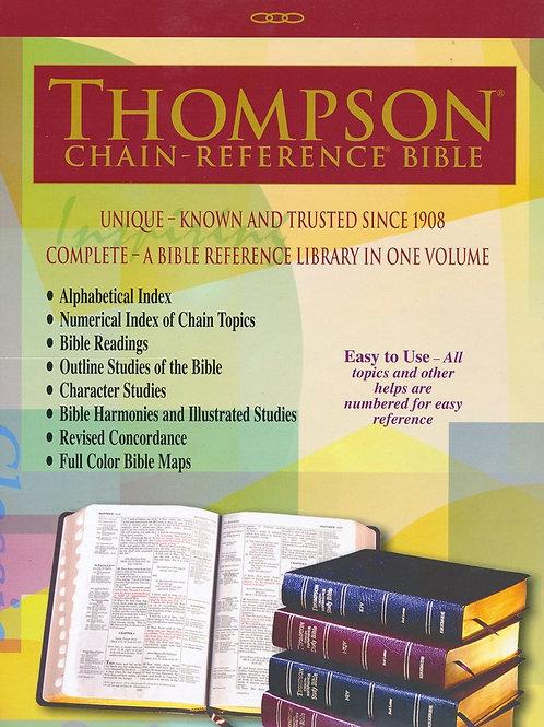KJV Thompson Chain-Reference Bible, Large Print, Black Genuine Leather, Capri Gr