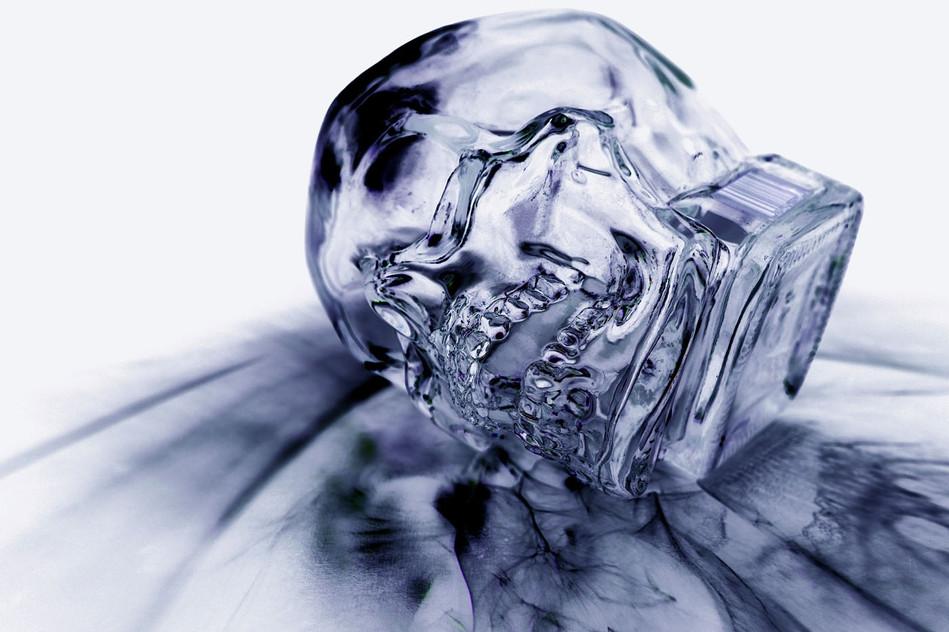 Negative Skull (Sideways)