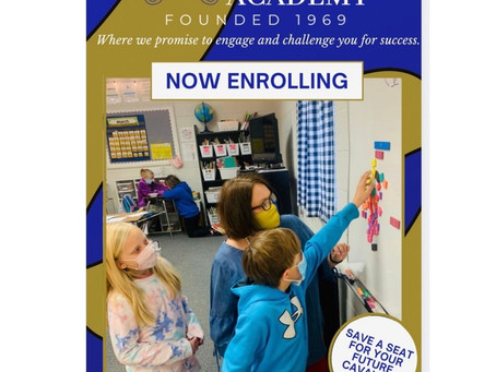Now Enrolling New Students for 2021-2022