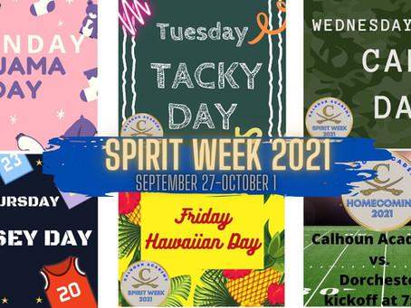 Calhoun Academy's Spirit Week to kick off Homecoming