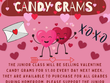Class of 2022 Valentine Candy Grams for Sale