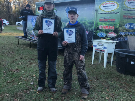 Landon Barnes ('24) and Holden Walling ('24) Place Third in SC High School Bass Challenge