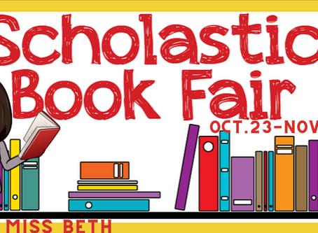 Scholastic Book Fair - October 23 - November 3