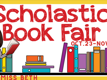 Scholastic Book Fair - October 23 - November 3
